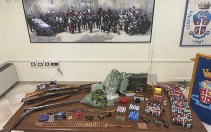 Foggia, perquisizioni a tappeto: trovate armi clandestine e munizionamento da guerra