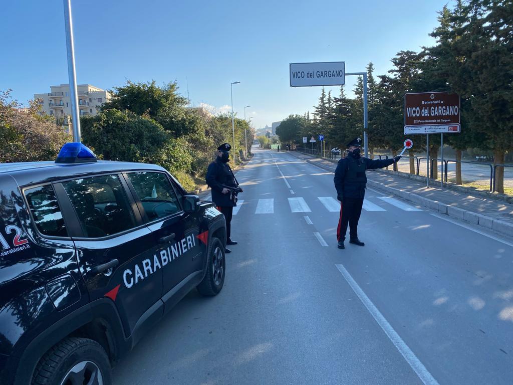 carabinieri vico del gargano controllo territorio